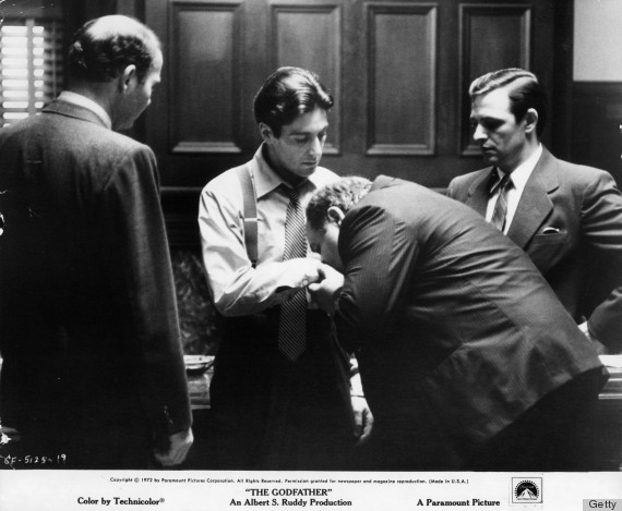 Al Pacino And Richard S Castellano In 'The Godfather'