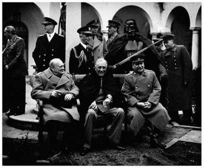 چرچیل؛ استالین، روزولت، کنفرانس تهران، 1945