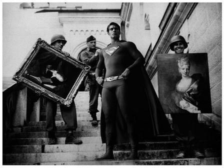 سربازان آمریکایی در حال بازیابی آثار هنری، 1945