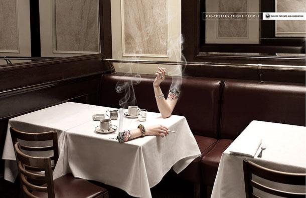 تبلیغات متفاوت ضد سیگار