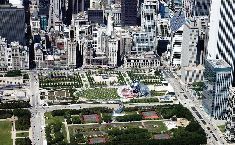 بوستان هزاره در شیکاگو، ترکیب هنر، انسان و طبیعت