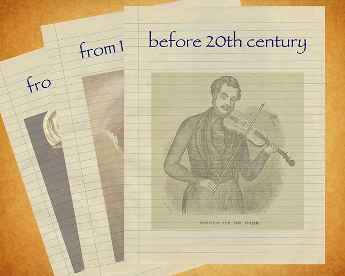 سه برگ از تاریخ موسیقی ـ برگ یک: قبل از قرن بیستم میلادی
